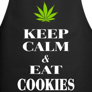 Keep Calm & Eat Cookies Kookschorten - Keukenschort