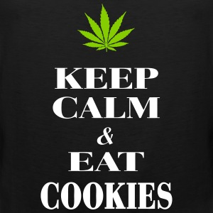 Keep Calm & Eat Cookies Tanktoppar - Premiumtanktopp herr