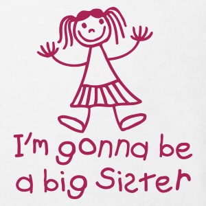 I'm gonna be a big sister Skjorter - Økologisk T-skjorte for barn