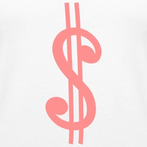 Dollar Sign Tops - Frauen Premium Tank Top