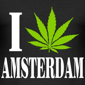 I love amsterdam T-shirts - Herre Slim Fit T-Shirt