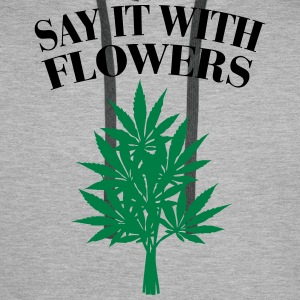 Cannabis - Say it with Flowers Bluzy - Bluza męska Premium z kapturem