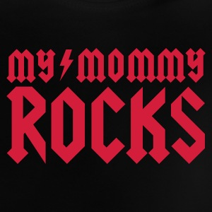 My mommy rocks Skjorter - Baby-T-skjorte