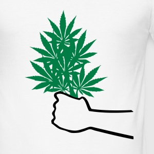 Cannabis  T-Shirts - Männer Slim Fit T-Shirt