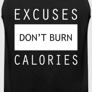 Calorie Gym Sports Quotes - Men's Premium Tank Top