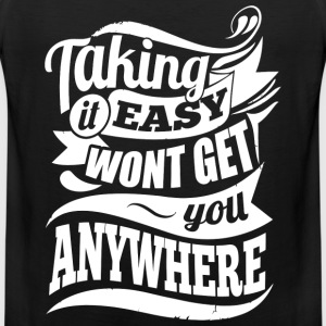Easy Gym Sports Quotes - Men's Premium Tank Top