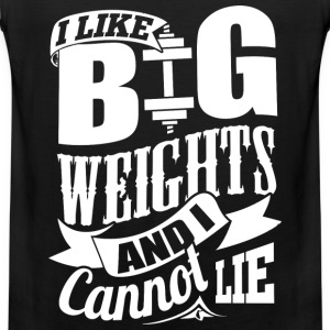 Big Weights Funny Gym - Men's Premium Tank Top