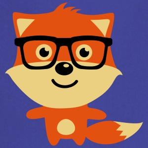 Cute & Funny Hipster Baby fox with nerd glasses Delantales - Delantal de cocina