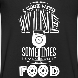 I cook with wine T-Shirts - Men's V-Neck T-Shirt