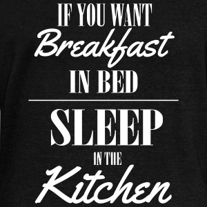 If you want breakfast in bed, sleep in the kichten Hoodies & Sweatshirts - Women's Boat Neck Long Sleeve Top