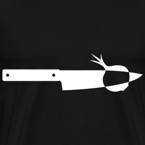 Knife with onion T-shirts - Mannen Premium T-shirt