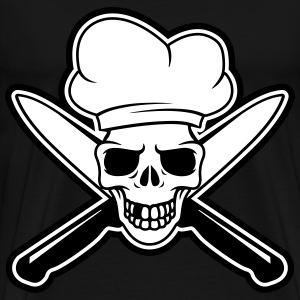 Skull chef T-Shirts - Men's Premium T-Shirt