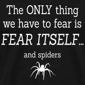 FEAR OF SPIDERS T-shirts - Herre premium T-shirt