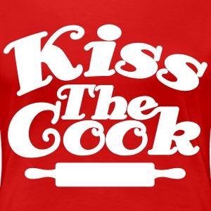 Kiss The Cook T-shirts - Vrouwen Premium T-shirt