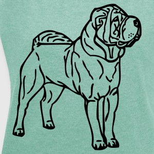 www.dog-power.nl  - Women's T-shirt with rolled up sleeves