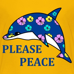 please peace T-shirts - Børne premium T-shirt