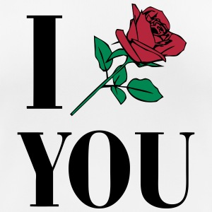 I Love You - Rose T-skjorter - Pustende T-skjorte for kvinner