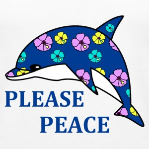 please peace Topit - Naisten premium hihaton toppi