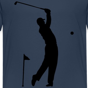 Golf - Hole in One idrottsman Scene T-shirts - Premium-T-shirt barn