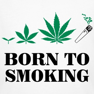 Cannabis - Born To Smoke T-shirts - Ekologisk T-shirt herr