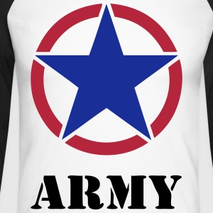 usa army shirt 04 Manches longues - T-shirt baseball manches longues Homme