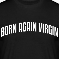 born again virgin stylish arched text lo