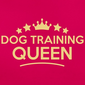 dog training queen stars - Frauen T-Shirt