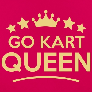go kart queen stars - Frauen T-Shirt