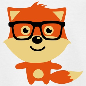 Cute & Funny Hipster Baby fox with nerd glasses T-shirts - T-shirt tonåring