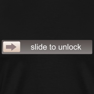 SLIDE TO UNLOCK -  ENTSPERRFUNKTION T-shirts - Mannen Premium T-shirt