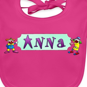 clowns_and_names_062015_anna_c Accessoires - Baby Bio-Lätzchen
