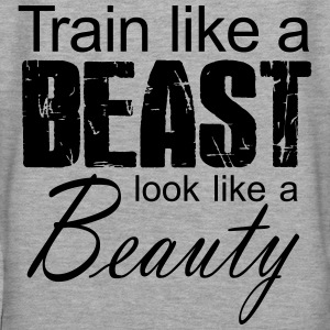 Train Like A Beast Look Like A Beauty Pullover & Hoodies - Frauen Premium Hoodie