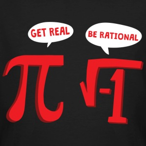 MATHS GET REAL - MATHE IS SCHEISSE T-Shirts - Männer Bio-T-Shirt