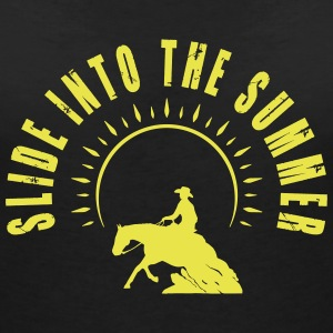Slide into the summer T-Shirts - Frauen T-Shirt mit V-Ausschnitt