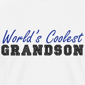 world's coolest grandson T-Shirts - Men's Premium T-Shirt