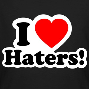 I LOVE HATERS - I LOVE ENVY T-shirts - Mannen Bio-T-shirt