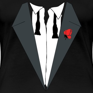 AFTER PARTY DRESS (TUXEDO) T-shirts - Dame premium T-shirt