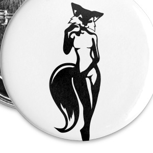 renarde sexy Badges - Badge grand 56 mm