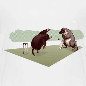 Wit Mole and Platypus cricket Shirts - Kinderen Premium T-shirt