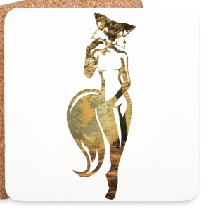 sexy fox in nature Mugs & Drinkware - Coasters (set of 4)