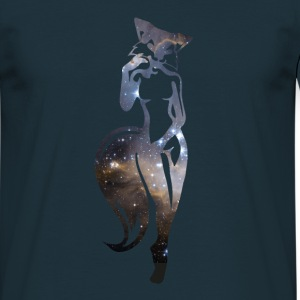 sexy Füchsin in Space T-Shirts - Männer T-Shirt