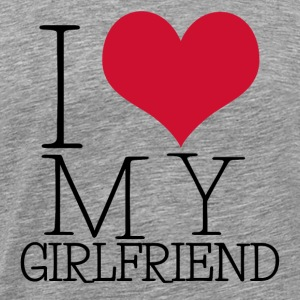 i love my girl T-skjorter - Premium T-skjorte for menn