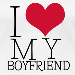 i love my boy T-shirts - Vrouwen Premium T-shirt