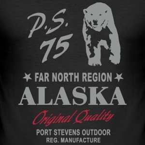 Alaska - Polar Bear T-Shirts - Men's Slim Fit T-Shirt