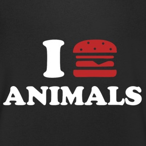 I LOVE ANIMALS T-shirts - Mannen T-shirt met V-hals