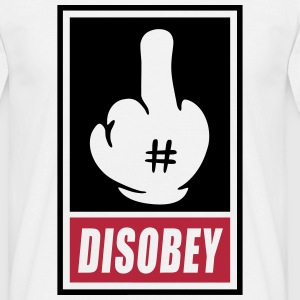 Fck Disobey vector 2 colors Tee shirts - T-shirt Homme