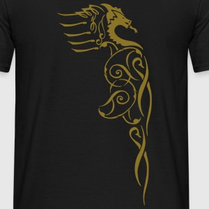Golden dragon men's t shirt - Men's T-Shirt