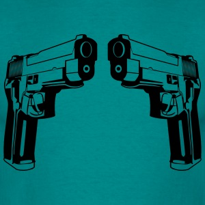 Weapons shoot pistols violence T-Shirts - Men's T-Shirt