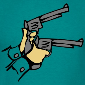 Weapons pistols hands dell T-Shirts - Men's T-Shirt