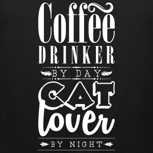 Coffee drinker by day, cat lover by night Tank Tops - Männer Premium Tank Top
